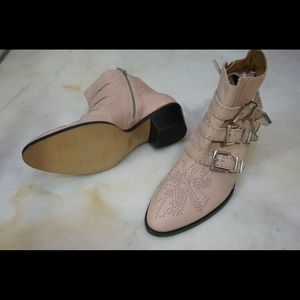 NIB Chloe Susanna Pink Ankle Boots  EU 40 1/2